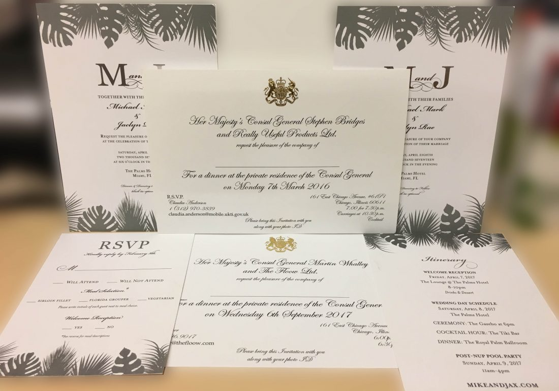 Custom Invitation Printing examples