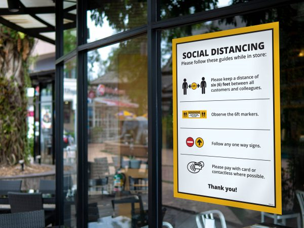 Social Distancing Window Sign