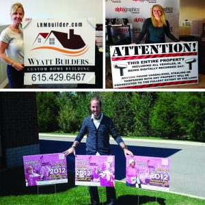 Marketing with yard signs