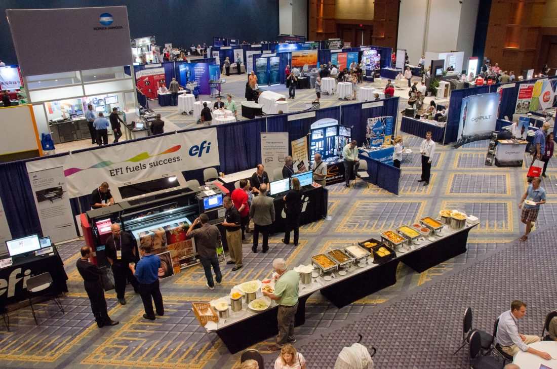 Areal View of A Trade Show