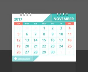 Business Calendars layout