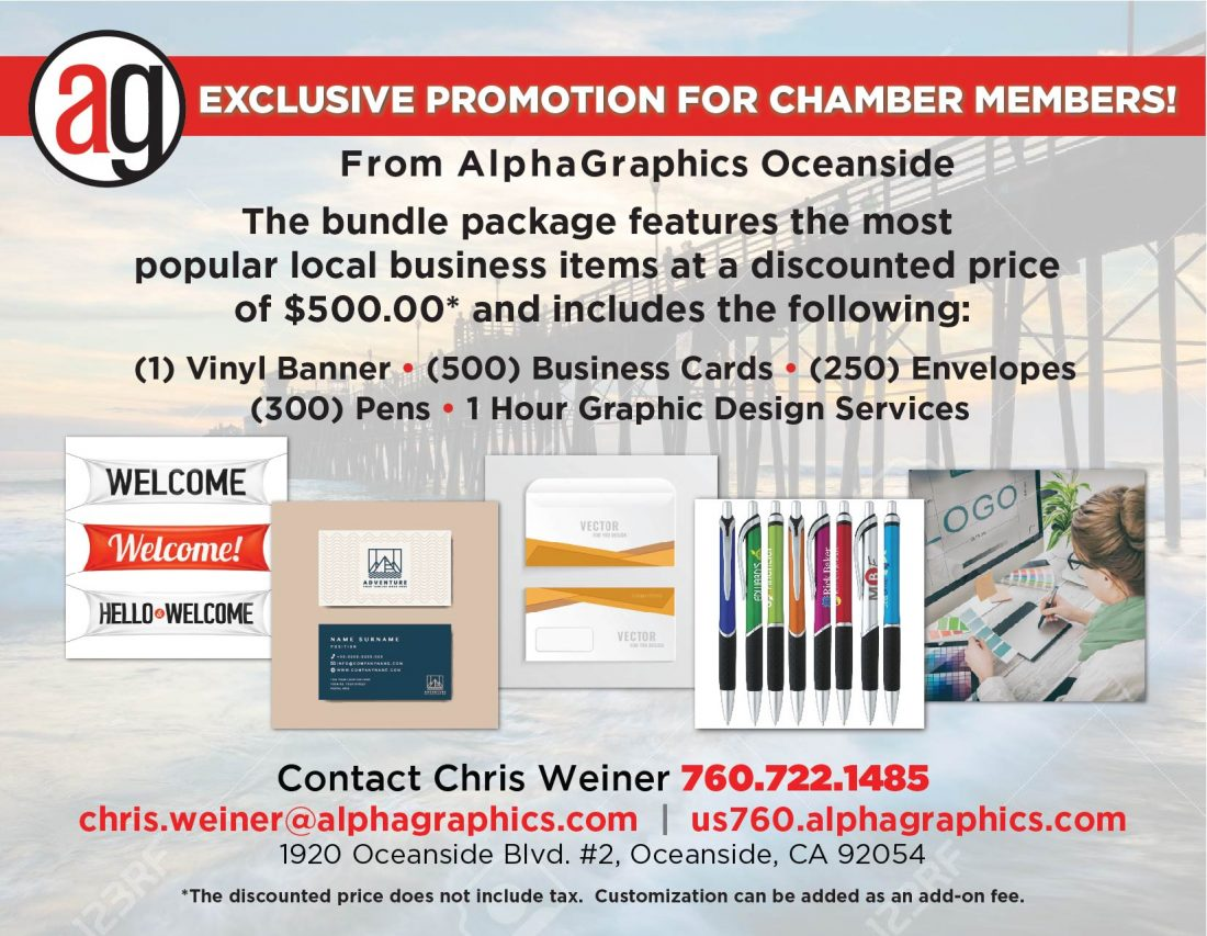 Exclusive Promotion, Chamber Members, Vinyl Banner, Business Cards, Envelopes, Pens, 1 Hour Graphic Design Services