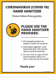 COVID-19 Hand Sanitizer Poster