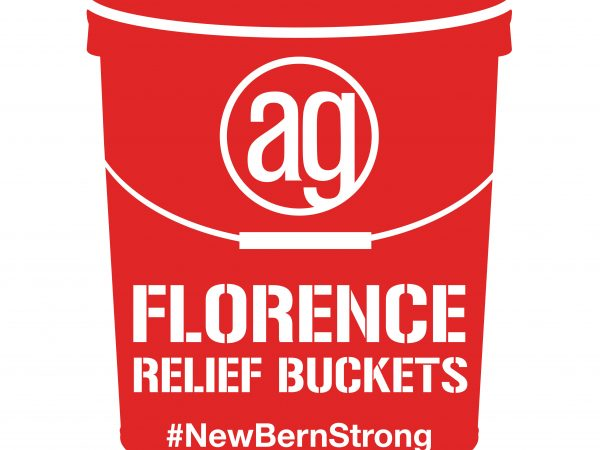 AlphaGraphics Hurricane Florence Relief Buckets