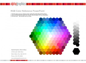 Microsoft Powerpoint Color Chooser Document by AlphaGraphics West Valley