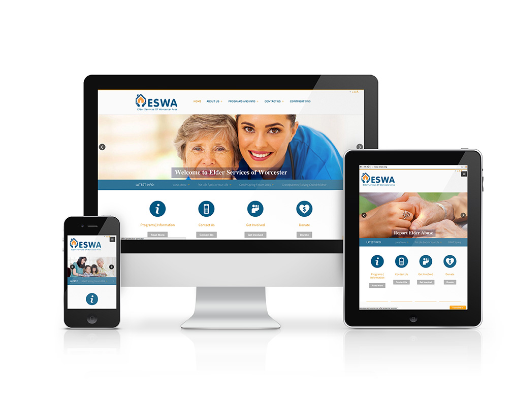 This is an image of a website designed by Alphagraphics in Worcester