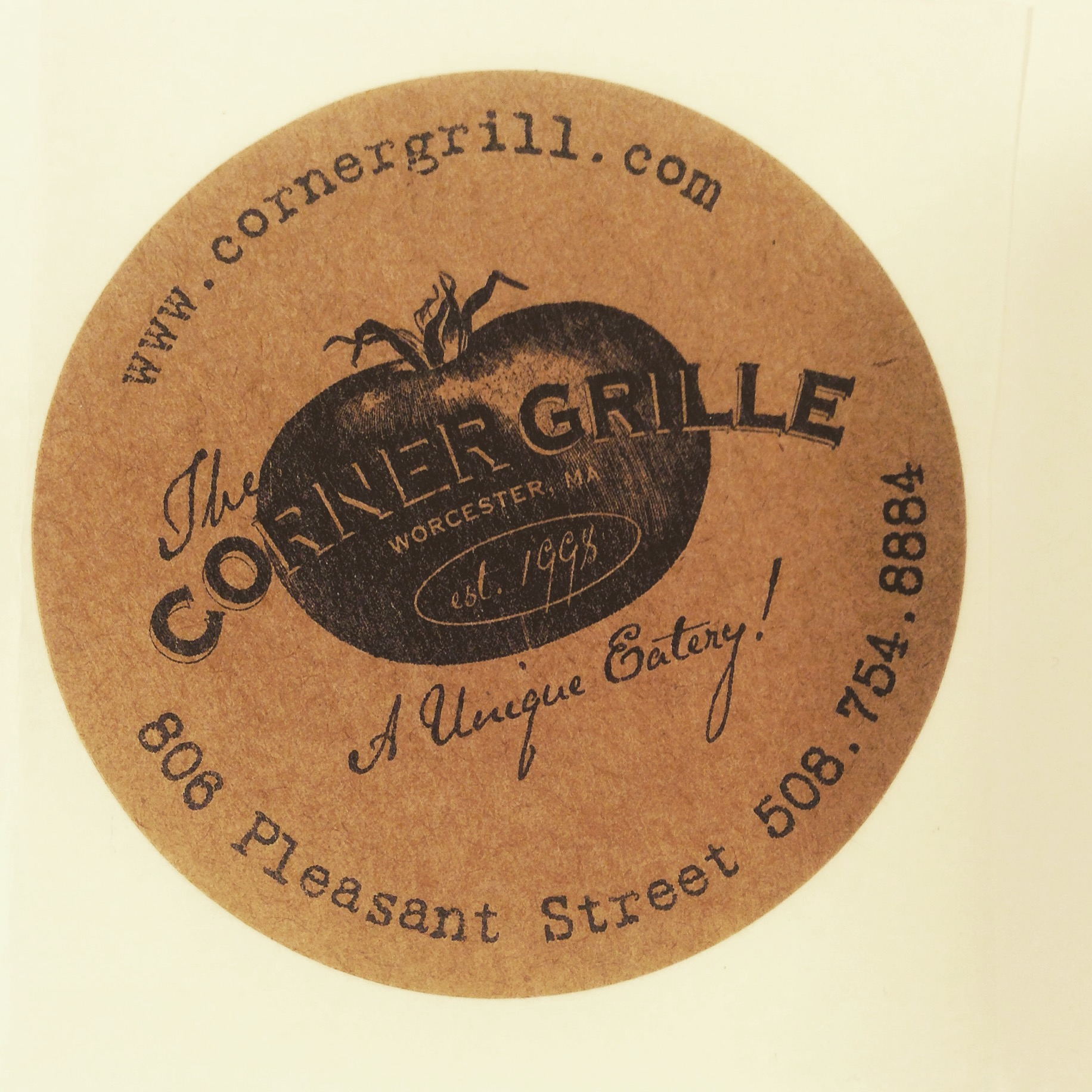 Sticker for Corner Grille