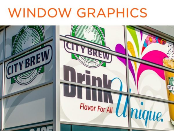 custom window graphics by Alphagraphics Worcester
